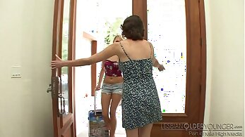 old with young, older people, sensual lesbians, young babes, younger women